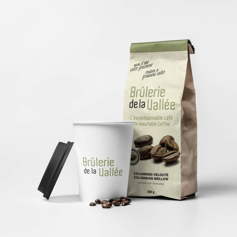 Sac de caf moulu 200g br lerie de la vall e - Sac de cafe en grain ...